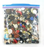 3 Pound Bag of Mixed Vintage & Newer Buttons