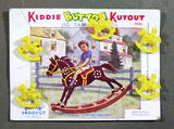 1948 Kiddie Kutout Buttons and Jigsaw Puzzle Card. Rocking Horse