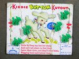 1950's Kiddie Kutout Buttons and Jigsaw Card. Little Bo-Peep