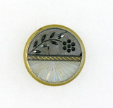 Antique 1.21 Inch Dia Metal Button