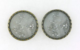 Pair of Antique 1.24 Inch Dia. Metal Buttons