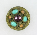 Antique 1.46 Inch Dia. Metal Button