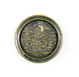 Antique 1.32 Inch Dia. Metal Button