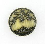 Antique 1.24 Inch Dia. Metal Button