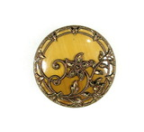 Antique 1.27 Inch Dia. Metal Button