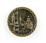 Antique 1.41 inch Dia. Metal Button