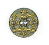 Antique 1.31 Inch Dia. Metal Button