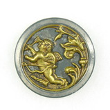 Antique 1.5 inch Dia. Metal Button