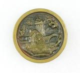 Antique 1.48 Inch Dia. Metal Button