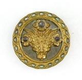 Antique 1.51 Inch Dia. Metal Button