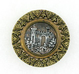 Antique 1.43 Inch Dia. Metal Button