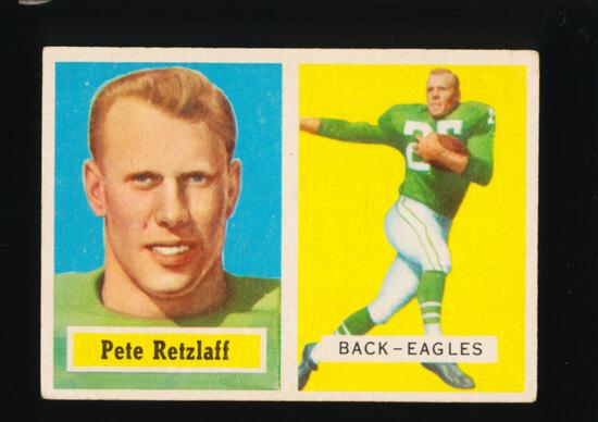 1957 Topps ROOKIE Football Card #2 Rookie Pete Retzlaff Philadelphia Eagles