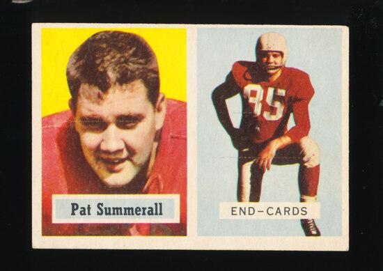 1957 Topps Football Card #14 Pat Summerall Chicago Cardinals