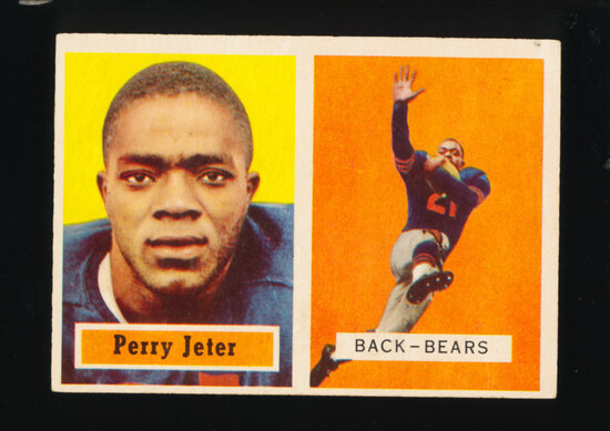 1957 Topps Football Card #19 Perry Jeter Chicago Bears