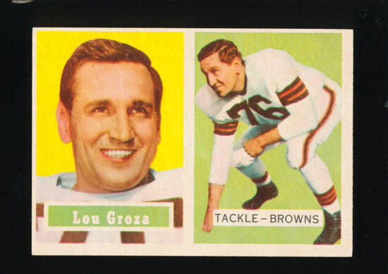 1957 Topps Football Card #28 Hall of Famer Lou Groza Cleveland Browns