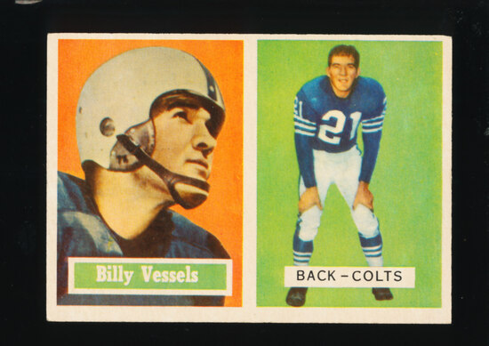 1957 Topps Football Card #29 Billy Vessels Baltimore Colts