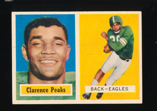 1957 Topps Football Card #37 Clarence Peaks Philadelphia Eagles