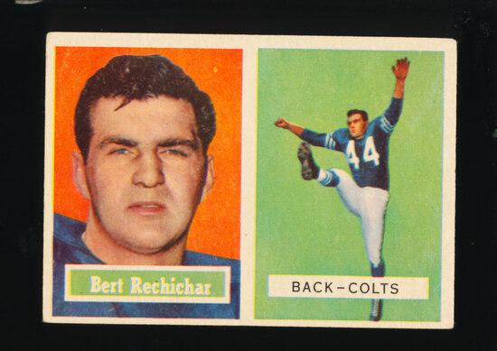 1957 Topps Football Card #41 Bert Rechichar Baltimore Colts