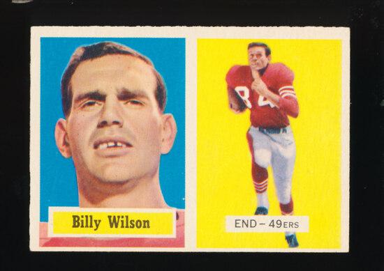 1957 Topps Football Card #42 Billy Wilson San Francisco 49ers