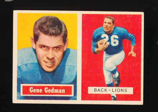 1957 Topps Football Card #44 Gene Gedman Detroit Lions