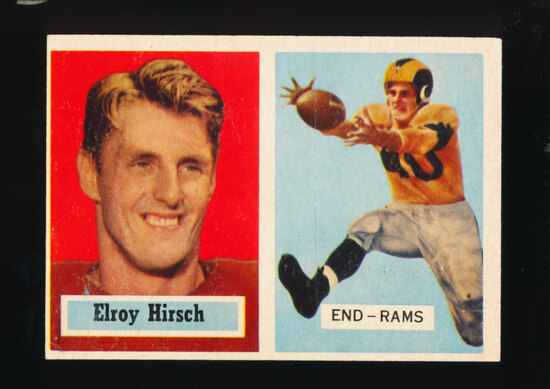 1957 Topps Football Card #46 Hall of Famer Elroy Hirsch Los Angeles Rams (S