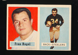1957 Topps Football Card #27 Fran Rogel Pittsburgh Steelers