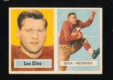 1957 Topps Football Card #36 Leo Elter Washington Redskins