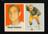 1957 Topps Football Card #39 George Tarasovic Pittsburgh Steelers
