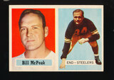 1957 Topps Football Card #51 Bill Mc Peak Pittsburgh Steelers