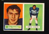 1957 Topps Football Card #53 Alan Ameche Baltimore Colts