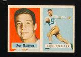1957 Topps Football Card #63 Ray Mathews Pittsburgh Steelers