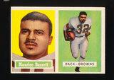 1957 Topps Football Card #64 Maurice Bassett Cleveland Browns (Small Revers