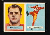 1957 Topps Football Card #72 Loris Baker Washington Redskins