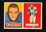 1957 Topps ROOKIE Football Card #80 Rookie Howard Cassady Detrot Lions
