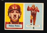 1957 Topps Football Card #84 Volney Peters Washington Redskins (Small Rever