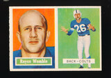 1957 Topps Football Card #86 Royce Womble Baltimore Colts