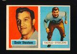 1957 Topps Football Card #92 Hall of Famer Ernie Stautner Pittsburgh Steele