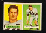 1957 Topps Football Card #102 Walt Michaels Cleveland Browns