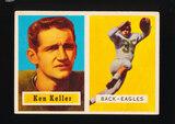 1957 Topps Football Card #111 Ken Keller Philadelphia Eagles