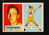 1957 Topps Football Card #113 Ted Marchibroda Pittsburgh Steelers