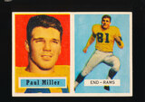 1957 Topps Football Card #120 Paul Miller Los Angeles Rams