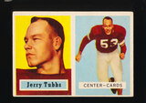 1957 Topps ROOKIE Football Card #125 Rookie Jerry Tubbs Chicago Cardinals