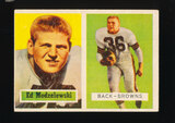 1957 Topps Football Card #127 Ed Modzelewski Cleveland Browns