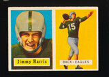 1957 Topps Football Card #135 Jimmy Harris Philadelphia Eagles