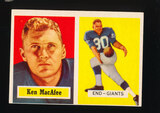 1957 Topps Football Card #144 Ken MacAfee New York Giants