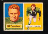 1957 Topps ROOKIE Football Card #145 Sid Youngelman Philadelphia Eagles