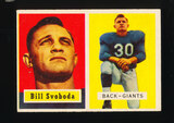1957 Topps Football Card #153 Bill Svoboda New York Giants