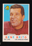 1959 Topps Football Card #2 Gene Brito Los Angeles Rams