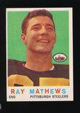 1959 Topps Football Card #11 Ray Mathews Pittsburgh Steelers