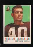 1959 Topps Football Card #18 Preston Carpenter Cleveland Browns